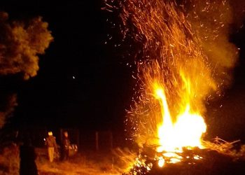 Winter Fire at Solitude Estate Tibooburra Vineyard